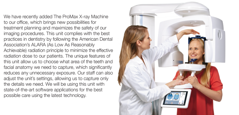 Dentist taking a patient's x-rays